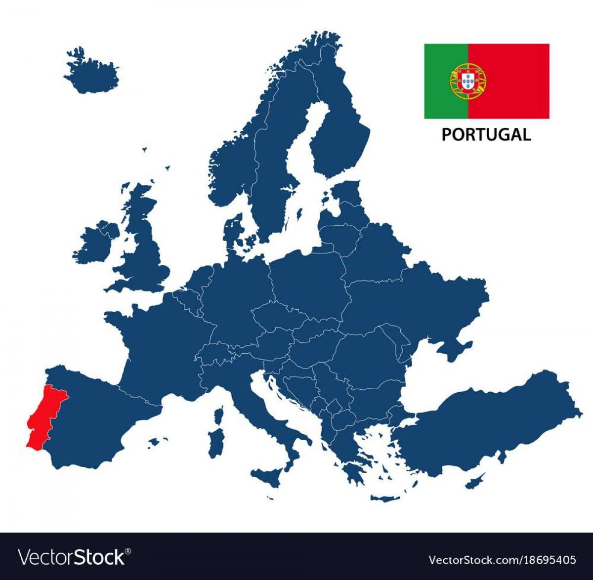 Europe Map Portugal Map Of Portugal In Europe Southern Europe - Map of southern europe