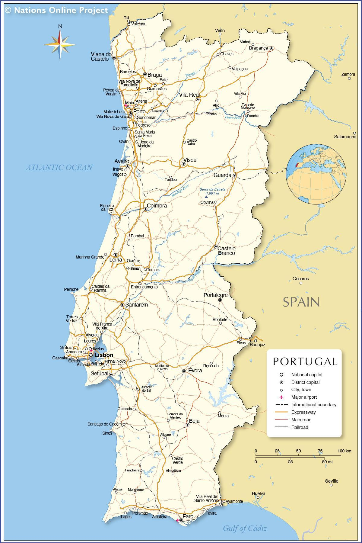 Portugal country map map of portugal and surrounding countries map of portugal and surrounding countries gumiabroncs Gallery