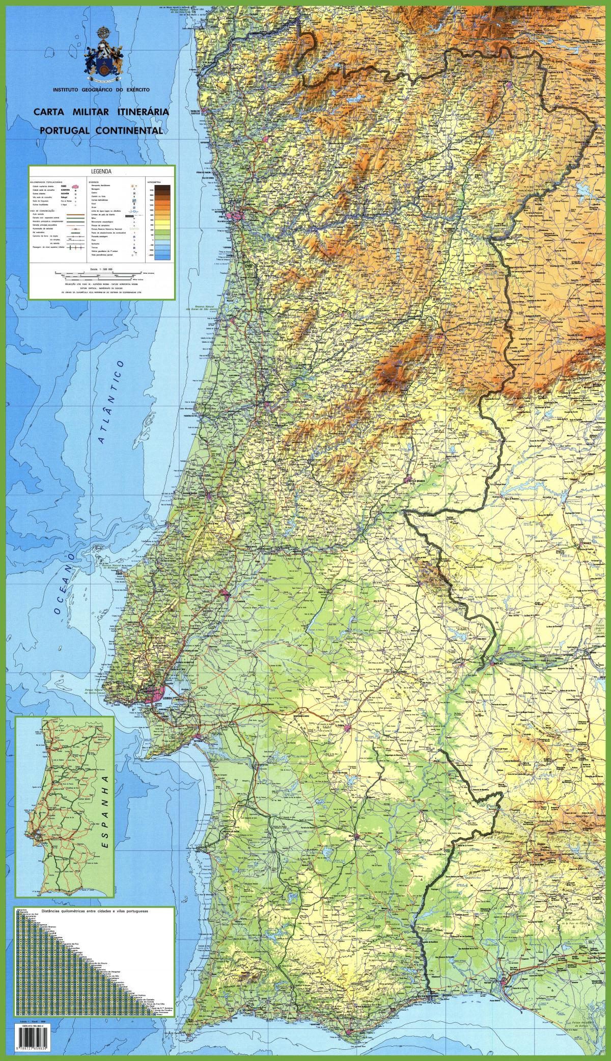 Portugal Map Detailed Map Of Portugal Southern Europe Europe