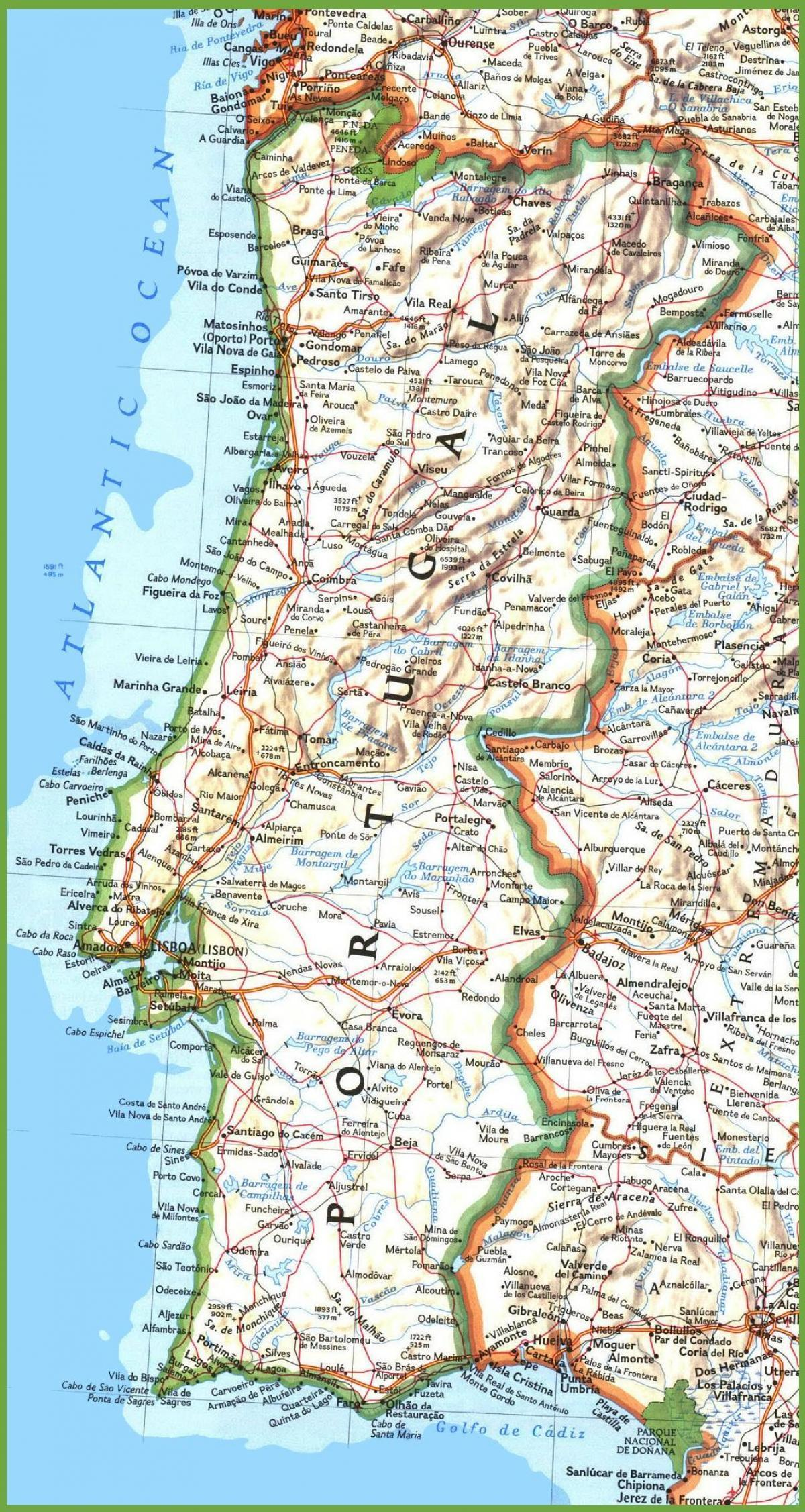 Portugal West Coast Map Map Of Western Portugal Southern