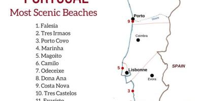 Portugal beach map