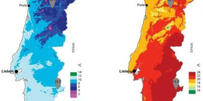 Climate map of Portugal