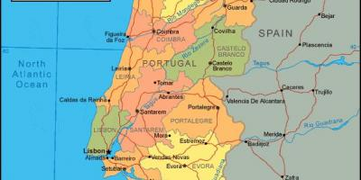 Portugal Map Geographic Map Road Map And Touristic Map Of Portugal