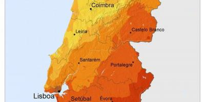 Weather map Portugal